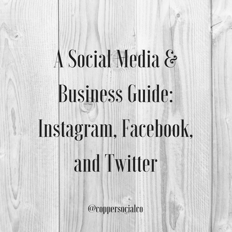 Quick Guide: Instagram, Facebook, and Twitter